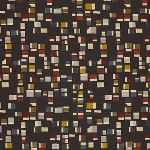 Momentum Textiles Upholstery Fabric Small Scale Geometric Pierre Graphite Toto Fabrics