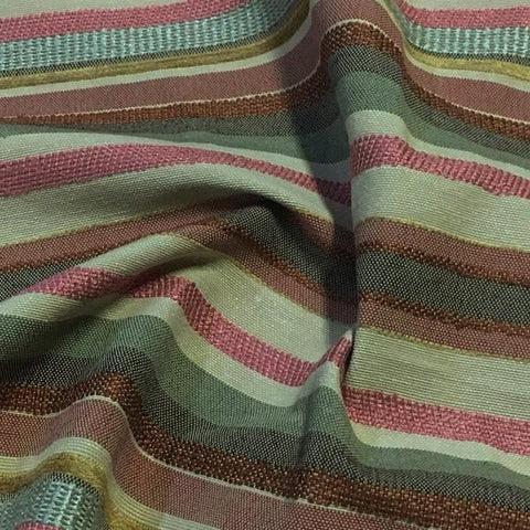 Swavelle Mill Creek Upholstery Fabric Pastel Stripe Pinata Garnet Toto Fabrics