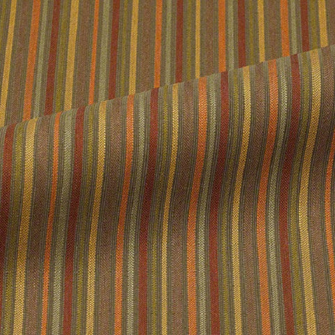 Upholstery Fabric Striped Cypton Portico Autumn Leaf Toto Fabrics