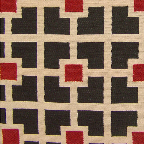 Arc-Com Quad Black Cherry Black Upholstery Fabric
