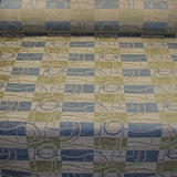 Raine Cloud Chenille Geometric Checker Upholstery Fabric
