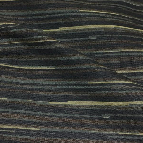 Pallas Reverb Foggy Notion Stripe Brown Upholstery Fabric
