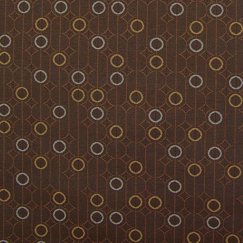 Arc-Com Upholstery Fabric Colorful Rings Ringling Truffle Toto Fabrics