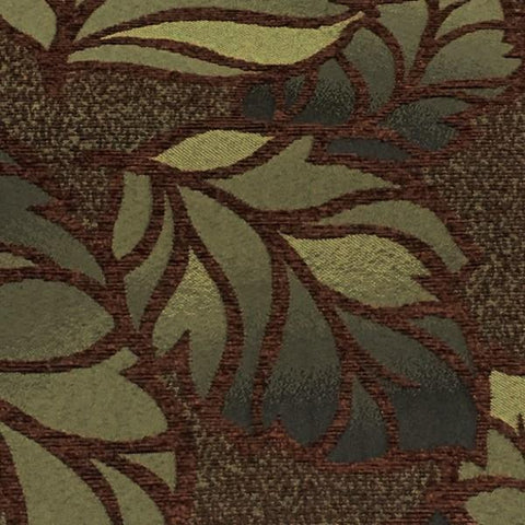 True Textiles Upholstery Fabric Botanical Raised Chenille Rio Autumn Toto Fabrics