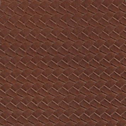 San Reno Bourbon Basket Weave Design Leather Brown Upholstery Vinyl Fabric