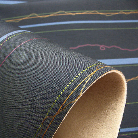 Upholstery Fabric Geometric Stripe Sequence Prussian Toto Fabrics