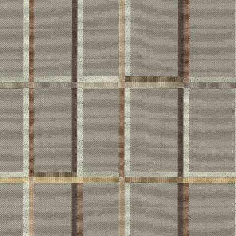 Maharam Shadowbox Fawn Window Pane Pattern Gray Upholstery Fabric