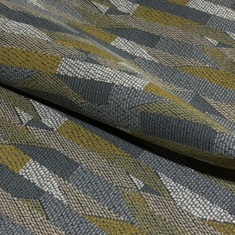 Bernhardt Shift Lemongrass Geometric Gray Upholstery Fabric