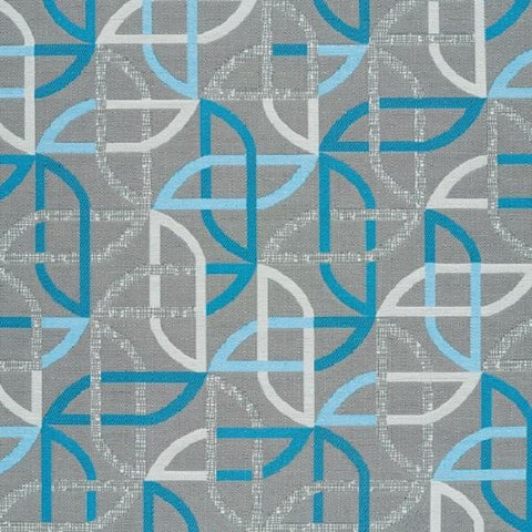 Designtex Shortcut Nova Modern Blue Upholstery Fabric