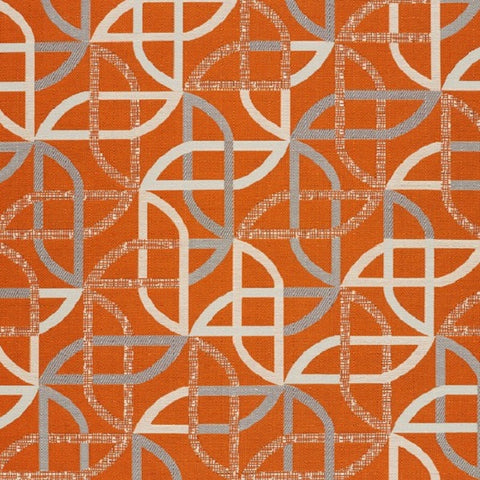 Remnant of Designtex Shortcut Solar Orange Upholstery Fabric