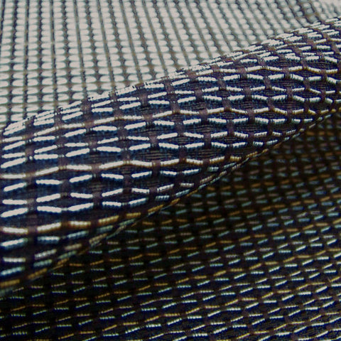Shuffle Ink Small Scale Geometric Blue Upholstery Fabric