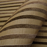 Swavelle Mill Creek Upholstery Fabric Chenille Bengal Stripe Sidwell Latte Toto Fabrics