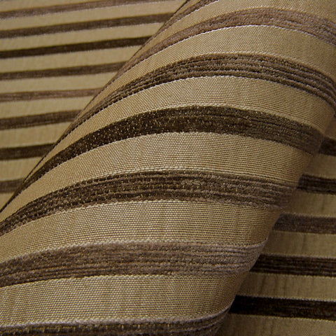 Upholstery Fabric Chenille Bengal Stripe Sidwell Latte Toto Fabrics