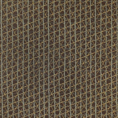 Momentum Sketching Air Driftwood Criss Cross Design Brown Upholstery Fabric