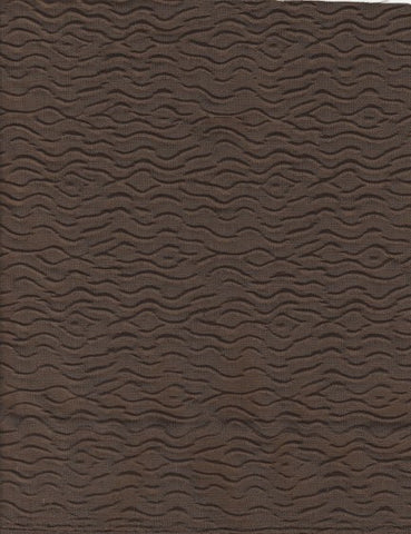 Upholstery Fabric Solid Raised Patttern Smoochy  Brown Toto Fabrics