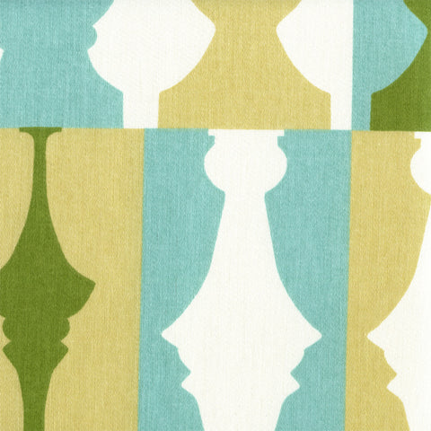 Waverly Upholstery Fabric Modern Chess Piece Print So Silhouette Turquoise Toto Fabrics
