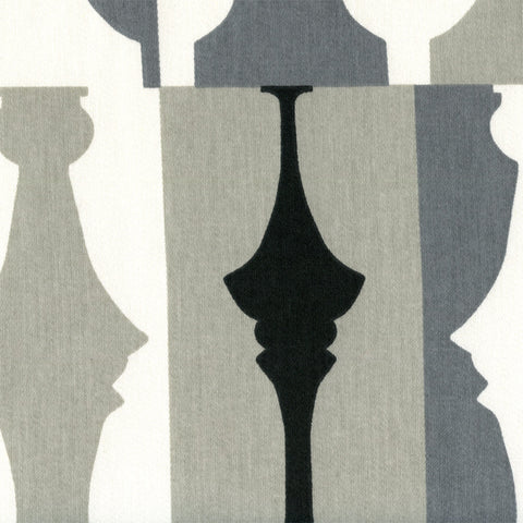 Upholstery Fabric Modern Chess Piece Print So Silhouette Tuxedo Toto Fabrics