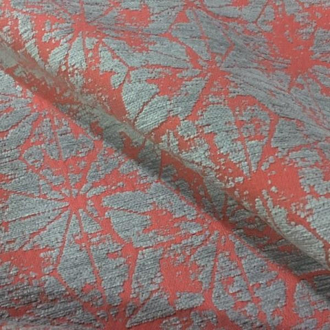 HBF Soft Angles Sorbet Chenille Orange Upholstery Fabric