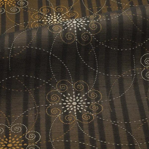 CF Stinson Spark Ebony Floral Brown Upholstery Fabric