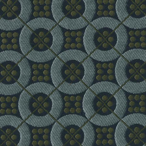 Bernhardt Spin Lake Geometric Blue Upholstery Fabric
