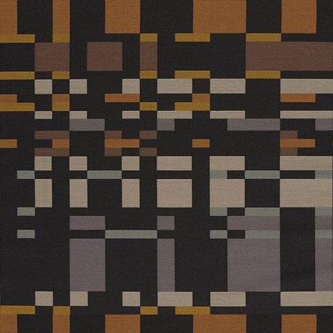 Arc-Com Square One Smoke Geometric Black Upholstery Fabric