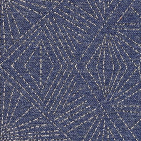 Designtex Upholstery Fabric Geometric Wool Blend Starburst Dark Blue Toto Fabrics