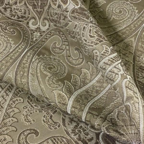 Swavelle Mill Creek Stately Champagne Chenille Paisley Beige Upholstery Fabric