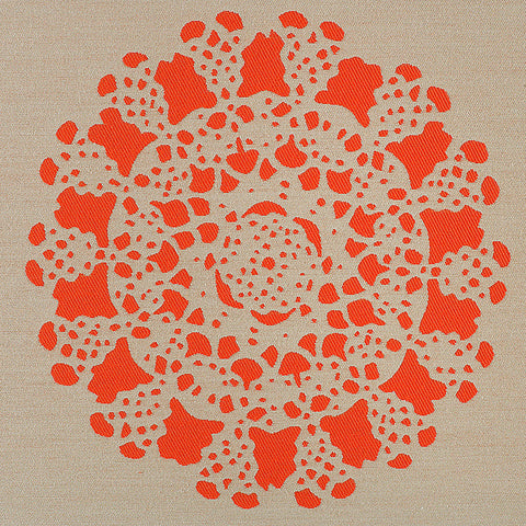 HBF Upholstery Stencil Safety Orange Toto Fabrics Online