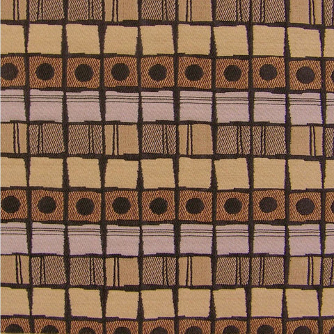 Upholstery Fabric Grid Stripe And Cirlces Stepping Stones Opal Toto Fabrics