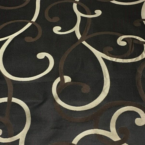 Swavelle Mill Creek Upholstery Fabric Scroll Swirl Onyx Toto Fabrics