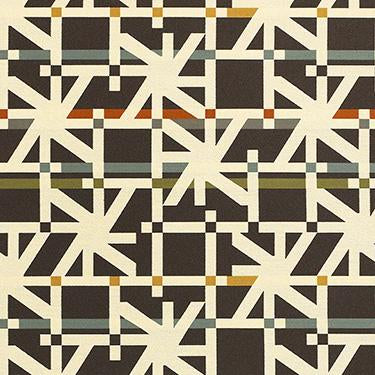 Momentum Upholstery Fabric Contemporary Pattern  Tactic Brun Toto Fabrics