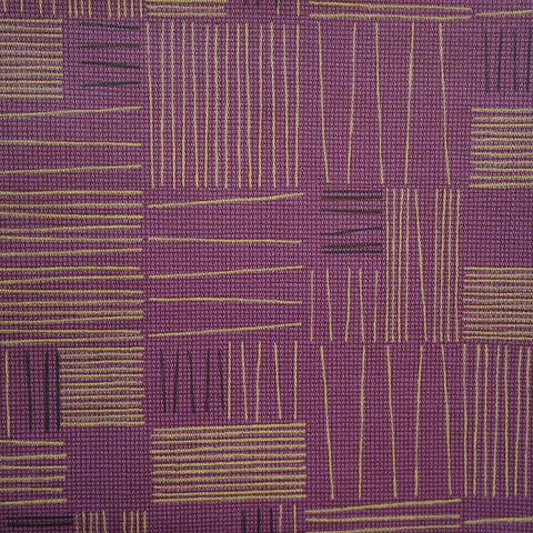 Arc-Com Tally Grape Purple Geometric Upholstery Vinyl