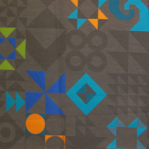 Maharam Tangram Lead Colorful Geometric Upholstery Fabric