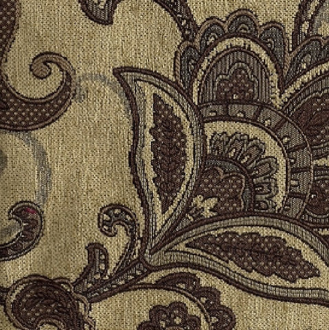 Upholstery Fabric Paisley Design Teagan Beige Toto Fabrics
