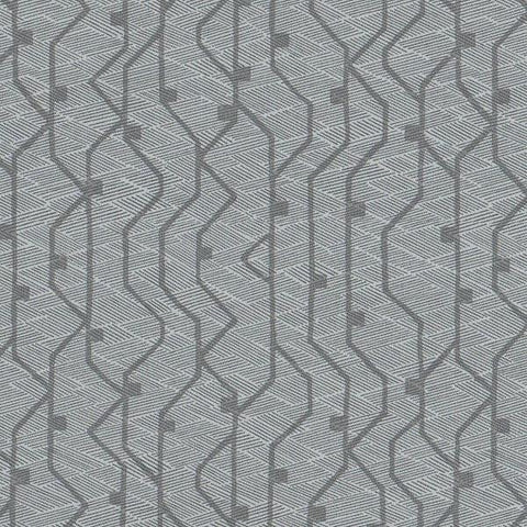 Arc-Com Tectonic Mist Geometric Grey Upholstery Fabric