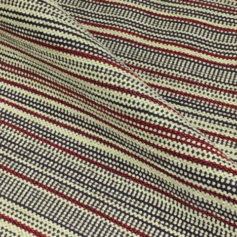 Pollack Thoroughfare Pomegranate Stripe Red Upholstery Fabric