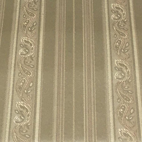 Upholstery Fabric Designer Paisley Stripe Trefoil Pearl Toto Fabrics