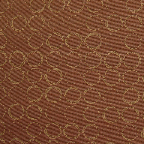Upholstery Fabric Brown Circles Trevi Romanesco Toto Fabrics