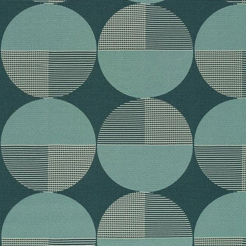 Designtex Turn Lake Geometric Blue Upholstery Fabric