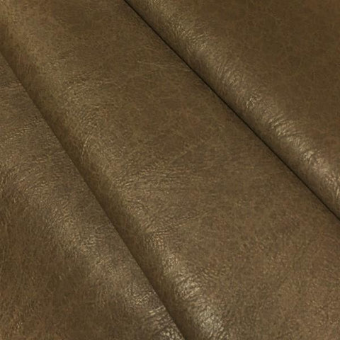 Swavelle Mill Creek Upholstery Fabric Faux Leather Solid Turnbull Chestnut Toto Fabrics