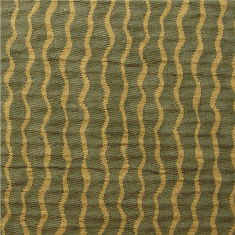 Upholstery Fabric Double Cloth Serpentine Stripe Twiggy Wiggly Green Machine Toto Fabrics