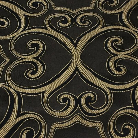 Swavelle Mill Creek Upholstery Fabric Designer Two Hearts Black Toto Fabrics