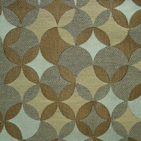 CF Stinson Whirl Good As Gold Overlapping Circles Brown Upholstery Fabric