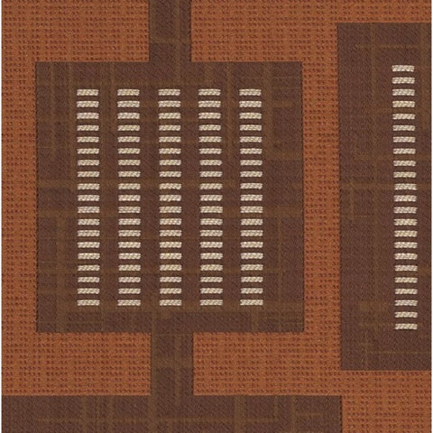 Remnant of Urban Grid Copper Upholstery Fabric
