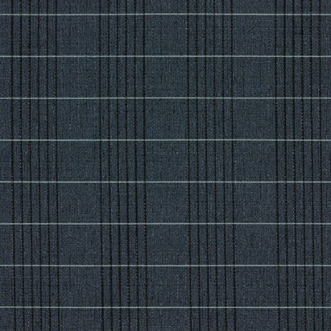 Designtex Windowpane Ink Blue Upholstery Fabric