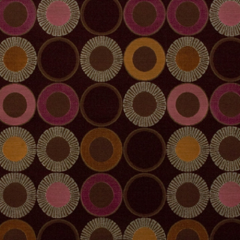 Arc-Com YoYo Berry Red Upholstery Fabric