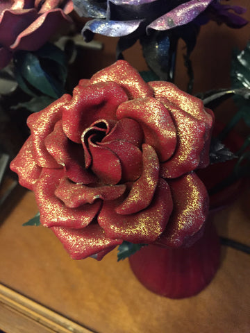 SALE Red Glitter Everlasting Rose