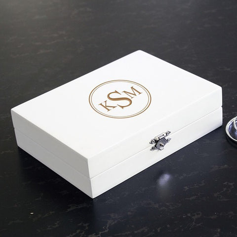 Black Personalized Wooden Jewelry Box