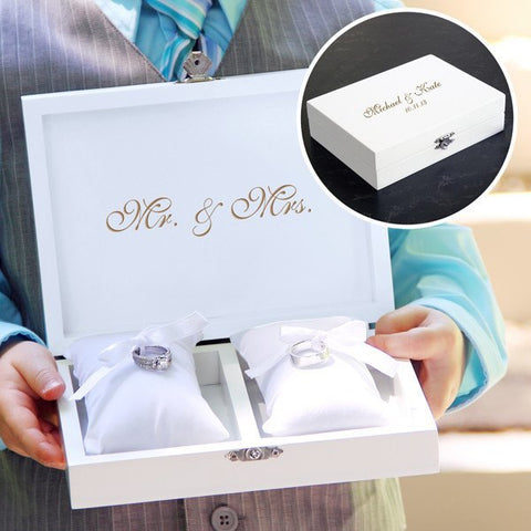 Black Ring Bearer Pillow Box