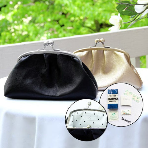 Black w/ Silver Framing & Accessories Clutch